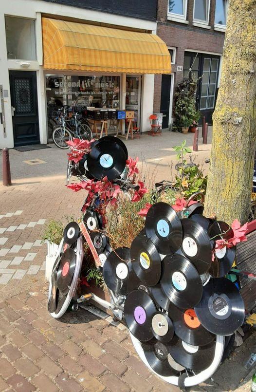 Vinyl-fiets van Flowerbikeman